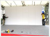 ステージ、パネル、看板